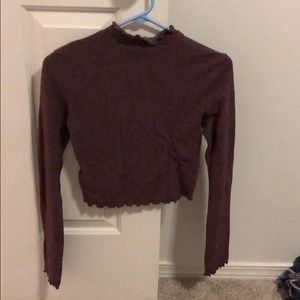 Urban outfitters mock neck lettuce top